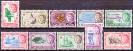Cayman Islands 1962 SG #165-174 Part Set To 1sh MNH CV £19.25 - Iles Caïmans