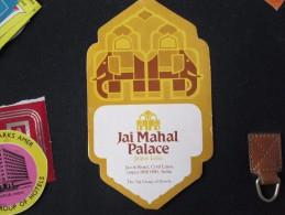 HOTEL MOTEL INN TAJ JAI MAHAL JAIPUR CALCUTTA NEW DELHI BOMBAY INDIA DECAL STICKER LUGGAGE LABEL ETIQUETTE AUFKLEBER - Hotel Labels