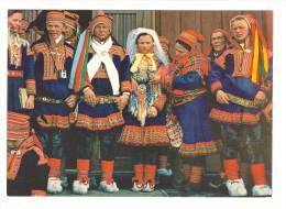 Norway Norvege Folklore Costume Lapon Etter Vielsen After Wedding Ceremoney Après La Ceremonie - Norway