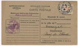 Fr2. Carte De Ravitaillement Général. CP + Timbre Franchise. Mairie De Follainville. Mantes - 27.7.46 - Marcophilie (Lettres)