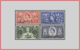 Kuwait 1953 - cat. 110/13 (*) Incoronazione di Elisabetta II - Coronation of Elizabeth II (009532)