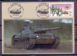 België - Tank Chasseur De Char - Journée Du Patrimoine - Charleroi 12/9/1992   (RM9554) - Militaria