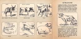 """01825 """"PLASMON 5° SERIE - ANIMALI"""" SISTEMA BREVETTATO CLRVONE - MILANO. CARTONCINO PUBBLICITARIO ORIGINALE PIEGHEVOLE. - Pubblicitari"""