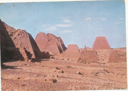 SUDAN - ANTIQUITIES - PYRAMIDS 2000 Years B C , Stamp, Vintage Old Photo Postcard - Sudan
