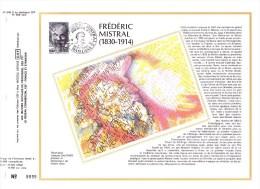 2098 (Yvert) Sur Feuillet 548 S Du Catalogue CEF (369/soie) - Personnages Célèbres Frédéric Mistral - France 1980 - 1980-1989