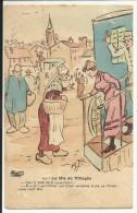 La Fête Au Village , Signé: A.F. , 1912 - Humour