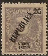 St. Thomas And Prince - 1913 KIng Carlos Overprinted REPUBLICA - St. Thomas & Prince