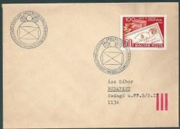 1858 Hungary SPM Stamp Philately Exhibition Addressed