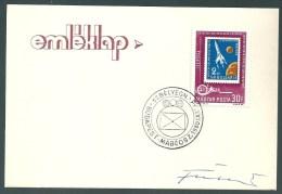 1862 Hungary SPM Stamp Day Philately Unaddressed RARE
