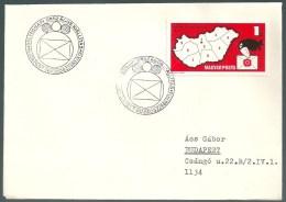 1863 Hungary SPM Stamp Philately Exhibition Addressed