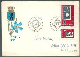 1867 Hungary SPM Stamp Philately Exhibition Addressed