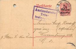 DEUTSCHES REICH AUSLANDSTELLE TRIER FREIGEGEBEN ENVOYEE DE BRUXELLES EN 1916 - German Occupation