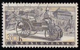 CZECHOSLOVAKIA - Scott #890 Bozek's Steam Car Of 1815 / Used Stamp - Cars