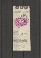 """Belgique -Nord Belge ( TR 203 Sur Fragment à Oblitération """" NORD BELGE-SCLESSIN 3 """") - Bahnwesen"""