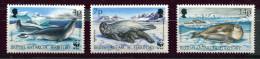 (cl. 8 - P22) Antarctique Britannique ** N° 213 - 215 - 217 (ref. Michel Au Dos) - Phoques - - Neufs