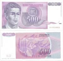 YUGOSLAVIA 500 DINARA 1992. UNC REPLACEMENT ZA PREFIX - Yougoslavie