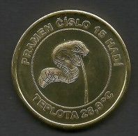 Czech Republic, Karlovy Vary, Sadova Kolonada, Snake, Souvenir Jeton - Tokens & Medals
