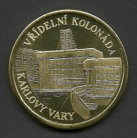 Czech Republic, Karlovy Vary, Vridelni Kolonada, Souvenir Jeton - Tokens & Medals