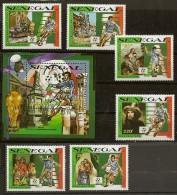LOT 1 Bloc + 6 Timbres Neufs** Football Italia 90 Sénégal - Sénégal (1960-...)