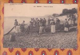 1 Cpa Menton : Pêche A La Senne - Menton