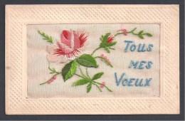 Carte Brodée - Tous Mes Voeux - Bordados