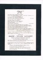 Marie LAVAERT1879 1950 Wd/v Pierre VANHOUTTE  Kortrijk Kuurne - Décès