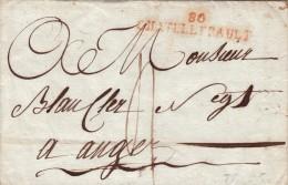 VIENNE 1841 LAS 2 NIVOSE AN XII (24 DECEMBRE 1803) MP ROUGE 80 CHATELLERAULT  POUR ANGERS/  ROUGE 5 - 1801-1848: Précurseurs XIX