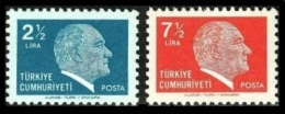 TURKEY 1980 (**) - Mi. 2518-19, ATATURK Regular Issue Stamps - 1921-... République