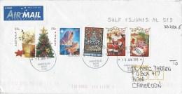Australia 2015 Fairfield Christmas Tree Santa Claus Child Drawing Cover - 2010-... Elizabeth II