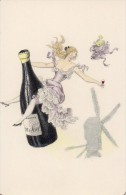 Vin De Bourgogne   - Moulin A Vent  -carte Double - Publicité