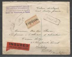 115 + 119 S/lettre Du Havre Pour L'Angleterre. - 1912 Pellens