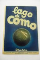 etiquette d�hotel  art deco pub LAGO DI COMO
