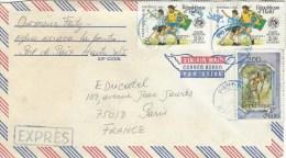 Haiti 1982 Port De Paix World Cup Football Soccer Spain Brasil Argentina Discovery Americas Express Cover - Coupe Du Monde