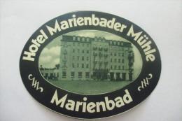Etiquette D'hotel  Art Deco Pub MARIENBADER MUHLE - Etiquettes D'hotels