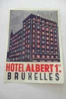 Etiquette D'hotel  Art Deco Pub ALBERT 1 BRUXELLES - Etiquettes D'hotels