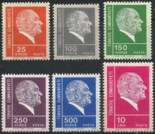 TURKEY 1975 (**) - Mi. 2374-79, ATATÜRK Regular Issue Stamps - 1921-... République