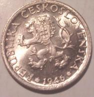 Czechoslovakia 1 Korun 1946 UNC/AUNC - Cecoslovacchia