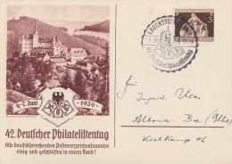 DR Sonderkarte 42 Dt. Philatelistentag EF Minr.617 SST Lauenstein - Deutschland