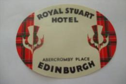 Etiquette D'hotel  Art Deco Pub ROYAL STUART EDINBURGH - Etiquettes D'hotels