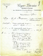 56- VANNES Facture COYAC - DROUINO  Marchand De Fourrages - 1800 – 1899