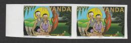 9] 1paire ** 1 Pair ** Rwanda SIDA AIDS 1993 Enfant Child 20 F Non Dentelé IMPERF - Rwanda