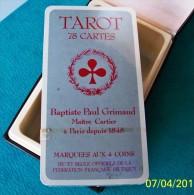 1 COFFRET JEU DE TAROT 78 CARTES NEUVES BAPTISTE PAUL GRIMAUD SOUS FILM MARQUEES AUX 4 COINS AVEC JEU ET REGLE OFFICIEL - Tarots