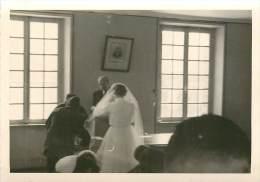 LOT DE 4 PHOTOS UN MARIAGE A CERISY DANS LA MANCHE - Orte