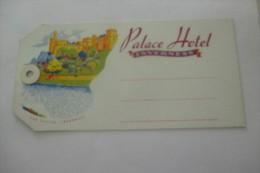 etiquette d�hotel  art deco pub HOTEL PALACE  INVERNESS VALISE