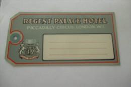 etiquette d�hotel  art deco pub HOTEL REGENT PALACE LONDON