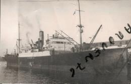 "Photo Bateau Navire Identifié Le "" LIVENZA  "" 1922 TRIESTE LIBERA TRSTINA ITALIE Photographe Duncan GRAVESEND KENT - Barcos"