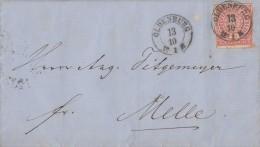 NDP Brief EF Minr.4 Nachv. Stempel Oldenburg 13.10. Gel. Nach Melle - Norddeutscher Postbezirk