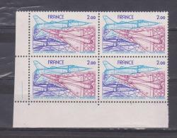 FRANCE / 1981 / Y&T PA N° 54 ** (4 TP En Bloc) :  Salon Aéronautique (et Mirage 2000) - Gomme D´origine Intacte - 1960-.... Used