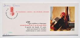 Ancien BUVARD Publicitaire De L´IMPRIMERIE BLONDÉ à ANVERS, 1953 - Buvards, Protège-cahiers Illustrés