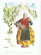 CPSM - J. Svain -  Santons De Provence : La Bûcheronne - 1970 - Ed. Antoine - Europe